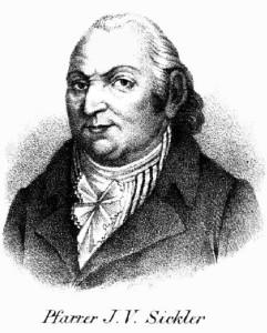 Der Autor und Pfarrer zu Kleinfahner, Johann Volkmar Sickler (1741-1820)