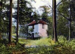 Das Forsthaus Großfahner in einer  Postkartenansicht um 1910.