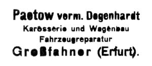 Firmenstempel Paetow vorm. Degenhardt
