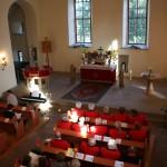 "Die Kirche ""Sankt Peter & Paul"" in Großfahner war am 1. November 2015 sehr gut besucht."