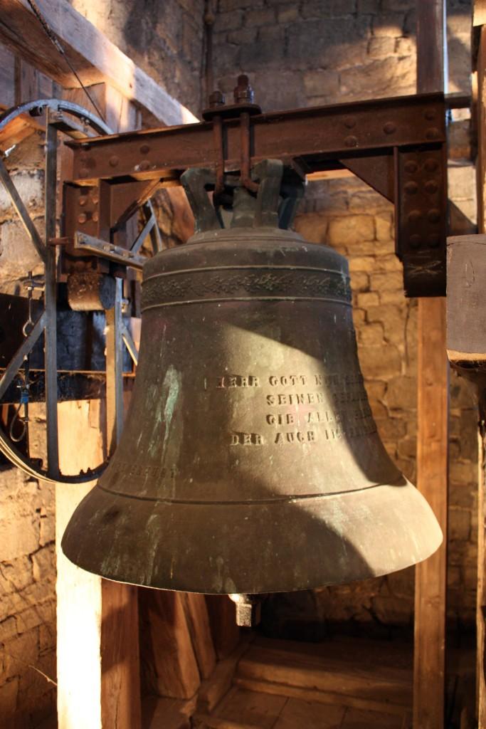 Die Gedächtnisglocke für die Gefallenen des 1. Weltkrieges aus Großfahner. Sie wurde am 1. November 1925 zusammen mit der Heimatglocke feierlich geweiht.