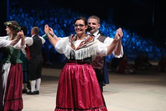 Das Thüringer Trachtenpaar aus Tambach-Dietharz war auch mit dabei.